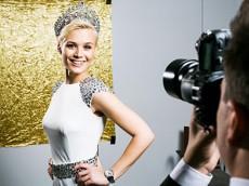 Miss Switzerland 2013 Balmain wristwatch Beleganza Chrono Lady chronograph