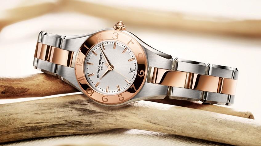 بوم مرسیه مدل لینِا ساعت زنانه لوکس  baume&mercier شرکت بازرگانی کیش بهین Kish behin  نمایندگی رسمی ساعت های سوئیسی